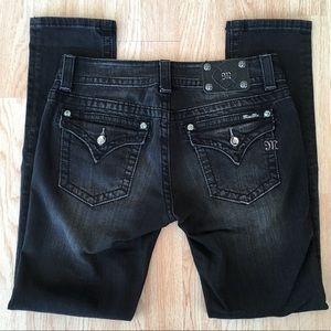 Miss Me Bling Black Pocket Flap Skinny Jeans 29x31